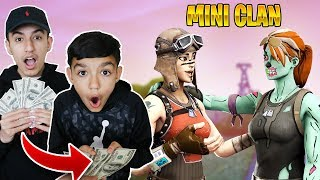 Bribing Little Brother With $1000 Dollars To Join His Fortnite Clan!