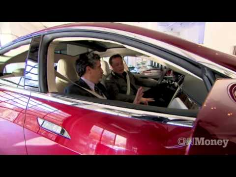 tesla model s sedan 7 seats prototype youtube. Black Bedroom Furniture Sets. Home Design Ideas