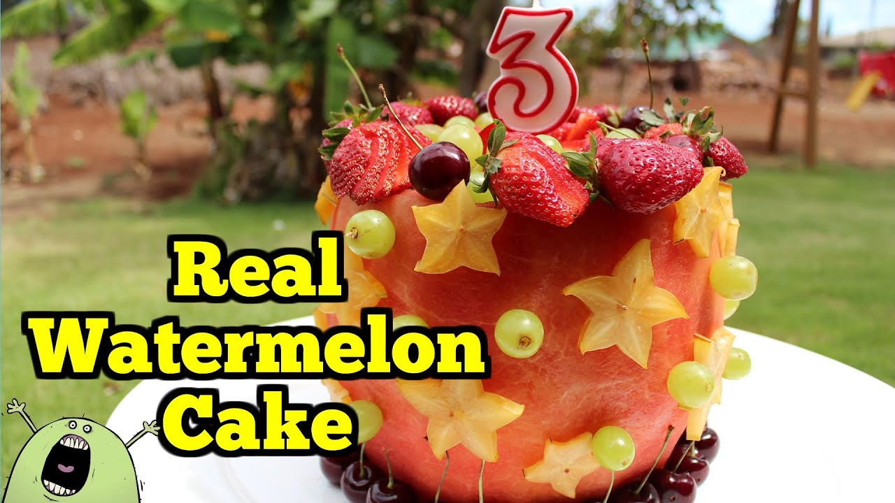 Real WATERMELON CAKE 100 Fruit YouTube