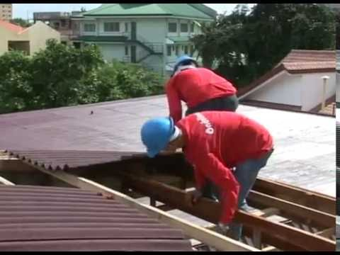 The Easy Installation Of Onduline Bitumen Roof Sheets