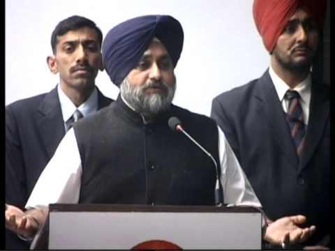 SUKHBIR DELIVERS KEYNOTE ADDRESS AT FIRST ALL INDIA CONFERENCE