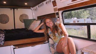 Victoria's van tour   2003 sprinter van with bathroom, kitchen and unbelievable storage