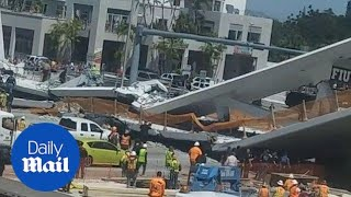 Bystander shares video of deadly bridge collapse in Florida - Daily Mail thumbnail