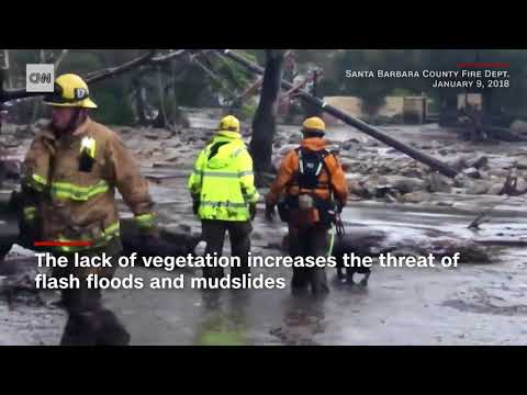 Aftermath Of Southern California Fire Causes Mudslides And Deaths