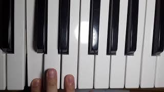 Видео урок на пианино для начинающих 🎼часть 2🎹