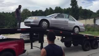How load to a car hauler
