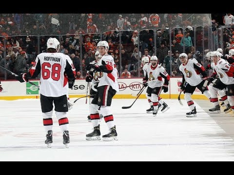 Game 50-Hassle Hoff-Ottawa Senators vs Philadelphia Flyers 2017-18