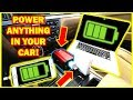 HOW TO Charge or Power Anything in Your Car (Power Inverter)