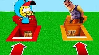 YANLIŞ GEÇİTİ SEÇME! (Kral Şakir,Hello Neighbor) 😱 - Minecraft