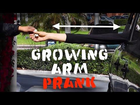 DRIVE THRU GROWING ARM PRANK -Julien Magic