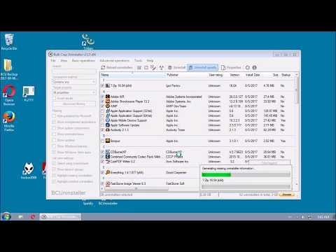 Bulk Crap Uninstaller v3.13 uninstalling 37 applications in ~5 minutes