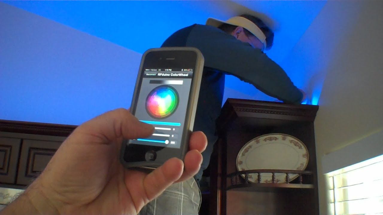 iphone controlled lighting. IPhone Control Of RGB Lights With RFduino - Arduino BLE Bluetooth 4 YouTube Iphone Controlled Lighting F