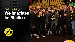 Amazing scenes! 30.000 Borussia Dortmund fans sing Christmas songs
