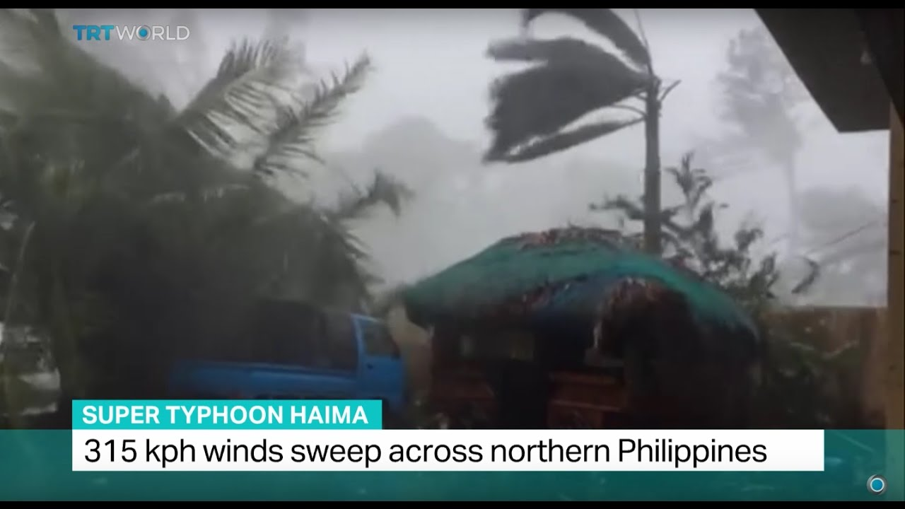 Super Typhoon Haima: 315 kph winds sweep across northern Philippines