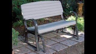 2871 Lifetime Gray Glider Bench