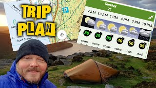 How I plan my camping / backpacking trips