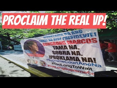 Marcos Loyalists: Proclaim the Real VP, Bongbong Marcos