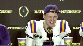 LSU Joe Burrow: 'You can't hold us down forever'