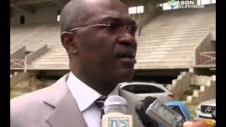 Le ministre en charge des sports visite le stade Omar Bongo en chantier