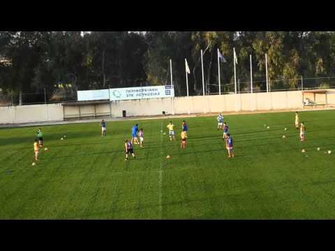 Midfield rotation possesion game
