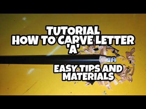 Pencil Carving| HOW TO CARVE LETTER 'A'| TUTORIAL| CUPID CARVING| thumbnail