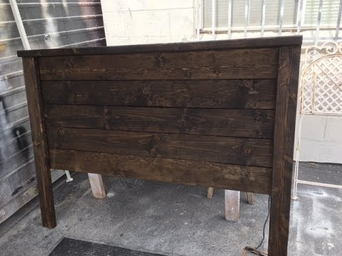 diy project rustic wood headboard easy build under 40 with only sander and screwdriver
