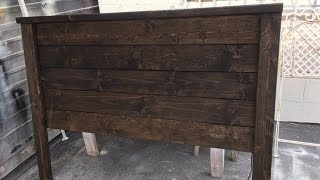 DIY Project Rustic wood headboard Easy build under $40 with only sander and screwdriver