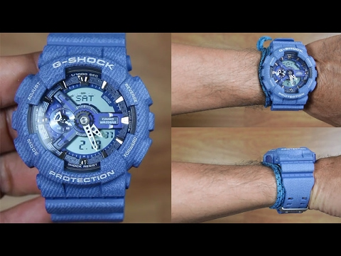 054fe29a560 CASIO G-SHOCK GA-110DC-2A Denim pattern - UNBOXING - YouTube
