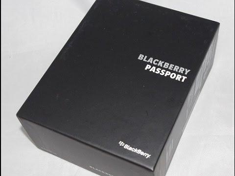 BlackBerry Passport 開封