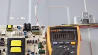 Hisense 55k20DG No Backlight - LED Voltage Test - Troubleshoot LEDs & Power Supply