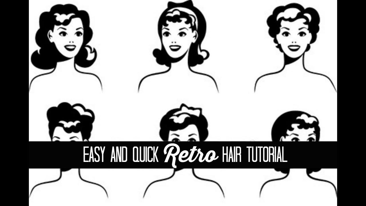 Easy Retro Hair Tutorial: The Glamorous Housewife Beauty - YouTube