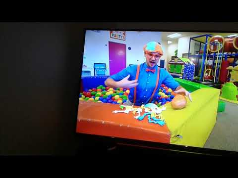 Blippi play at a kids place