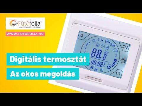Digitális termosztát padlőérzékelő beállítás