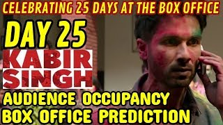 KABIR SINGH BOX OFFICE COLLECTION DAY 25 | PREDICTION | AUDIENCE OCCUPANCY | SHAHID KAPOOR | SOLID