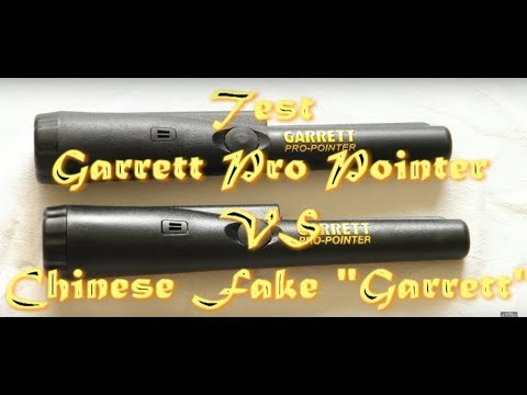 "Test Garrett Pro Pointer vs Chinese fake ""Garrett"" - Тест Garrett Pro Pointer и подделки под него."