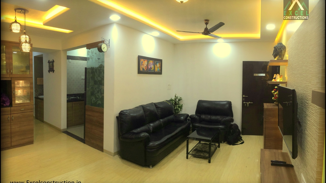 2 bhk apartment interior design at petals wakad pune for 1 bhk flat interior decoration