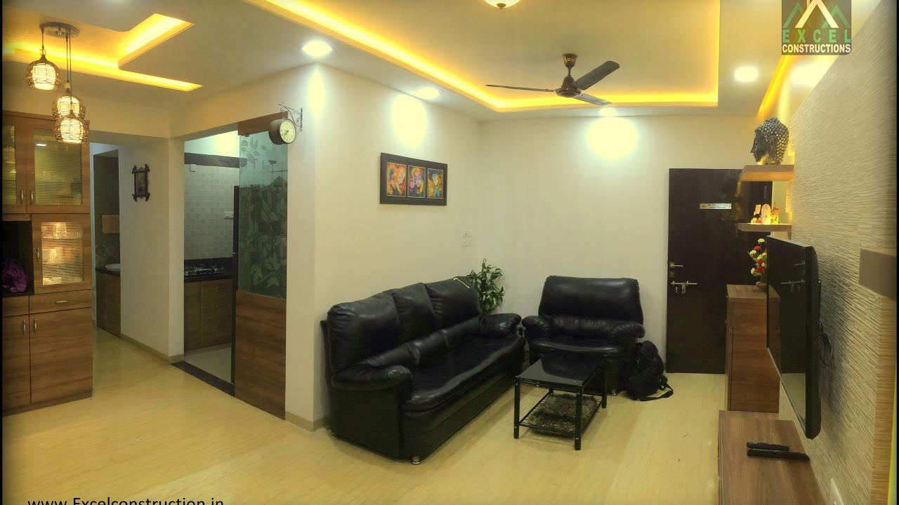 2 BHK Apartment Interior Design at Petals, Wakad , Pune ...