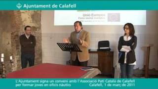 L´Ajuntament signa un conveni amb l´Associació Patí Català de Calafell