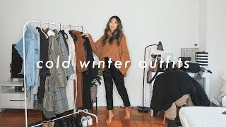 CASUAL COLD WINTER OUTFITS | layering for freezing winter