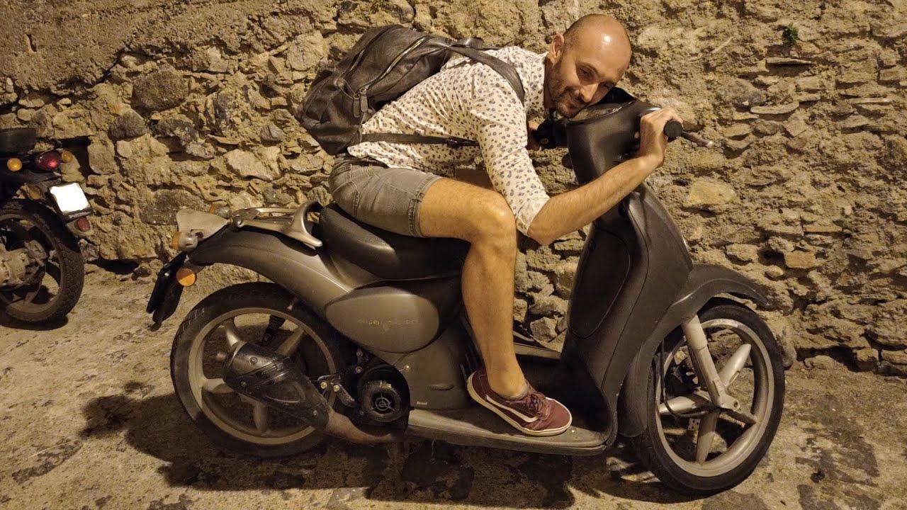 Aprilia Scarabeo Piaggio 70 cc DR scarburato e starato on board camera
