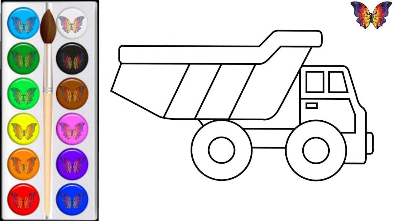 Как нарисовать МАШИНУ ГРУЗОВИК / мультик раскраска ...
