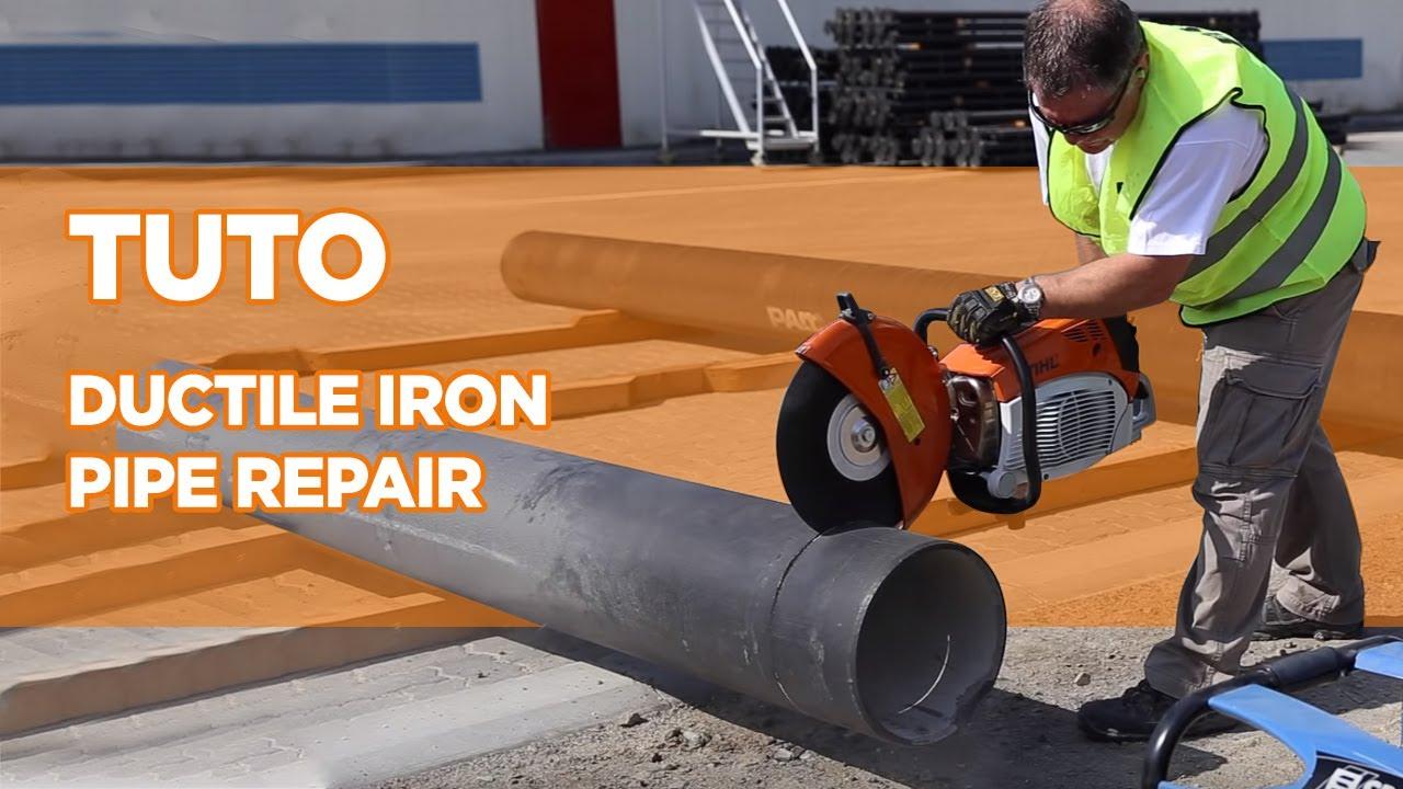 Ductile iron pipe repair tutorial saint gobain pam youtube