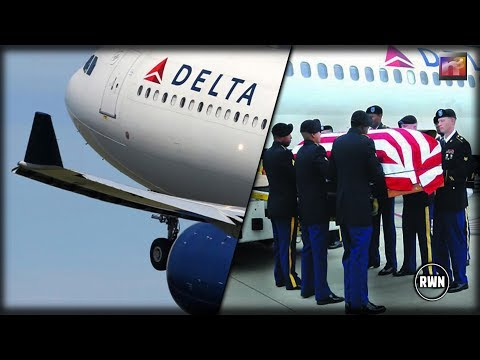 Delta Sees Woman Showing Respect For Soldier On His Final Trip Home, Airline Makes Entire Flight Pay