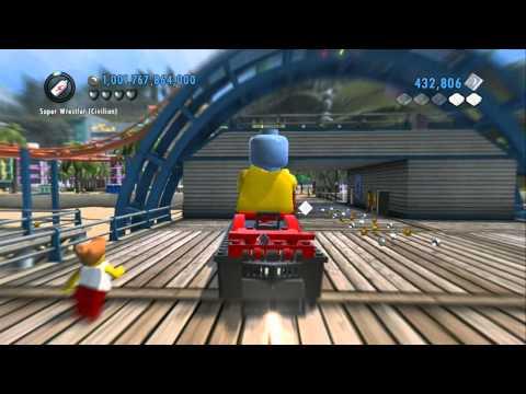 LEGO City Undercover (Wii U) - Taking All Stunt Ramps / Loop De Loops / Boat Jumps