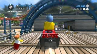 LEGO City Undercover (Wii U) - Taking All Stunt Ramps / Loop De Loops / Boat Jumps