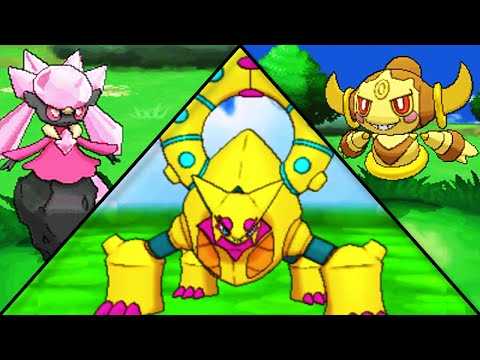 Pokemon X and Y: Shiny Volcanion, Hoopa and Diancie w/ Signature Moves!