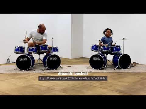 Argos Christmas Advert - Rehearsal - Simple Minds - Drummer Girl