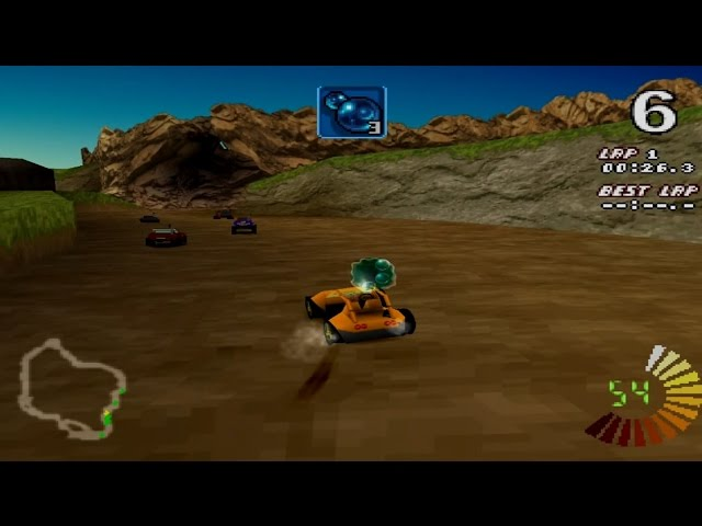 RC Revenge Gameplay Championship mode (PS1,PSX,PsOne)