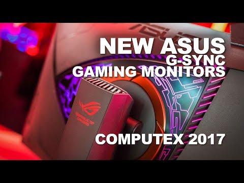 New ASUS curved 165Hz G-Sync and 4K G-Sync HDR Gaming Monitors at Computex 2017