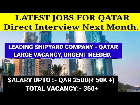 QATAR job vacancy 2021// Latest shipyard company jobs for Qatar🇶🇦//Direct interview next month.